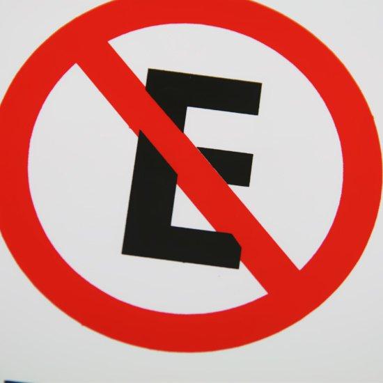 Placa Sinalização Proibido Estacionar 15 x 20 cm  - Imagem zoom