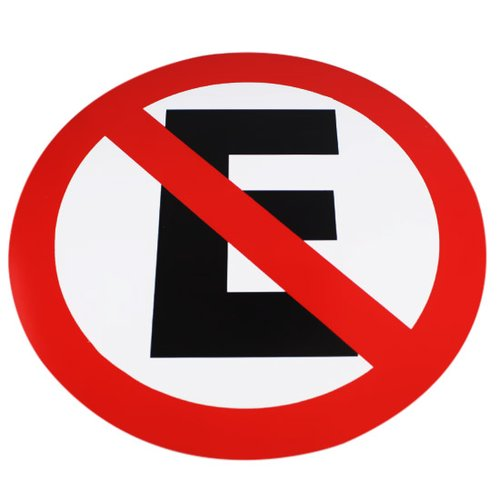 placa sinalizadora de proibido estacionar