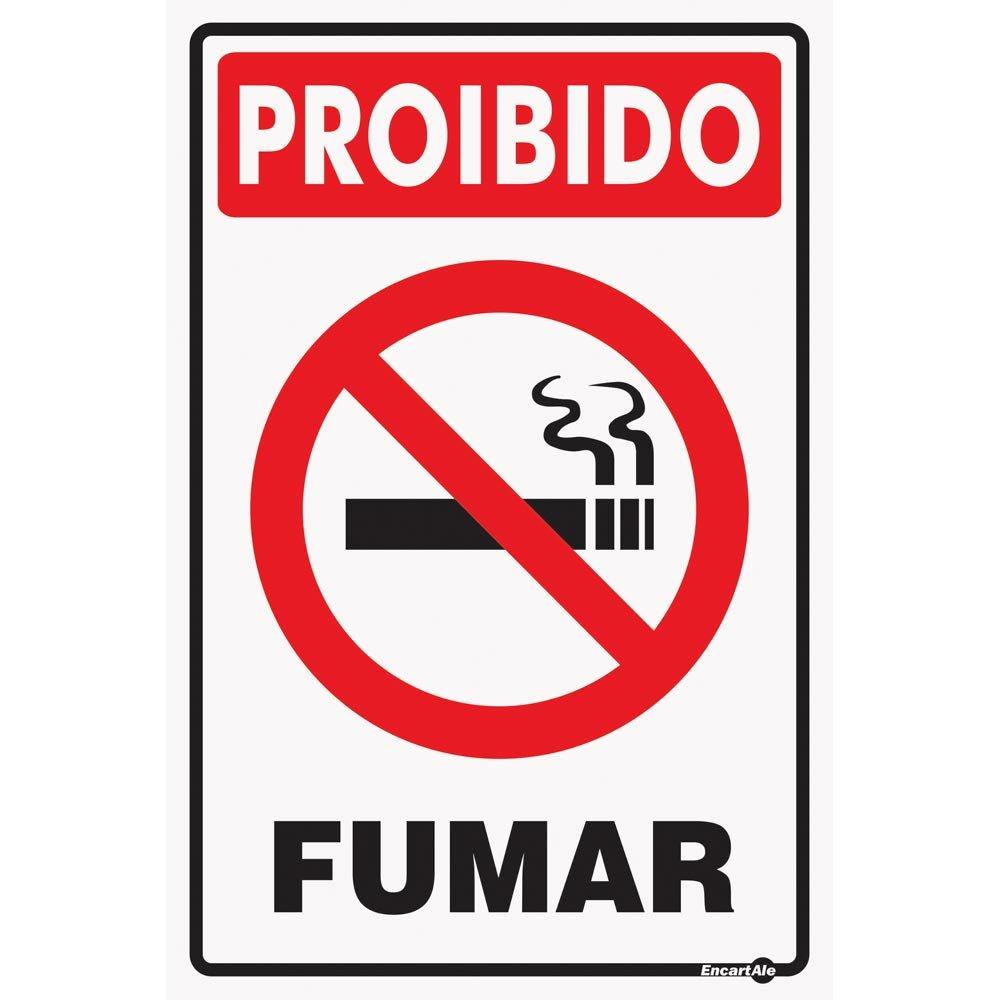 Placa Sinalizadora Proibido Fumar 20 x 30 cm - ENCARTALE-PS-07 - R ... e5abee3d6e1