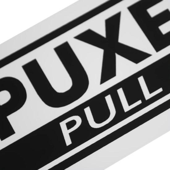 Placa Sinalizadora de Puxe Bilíngue - Imagem zoom