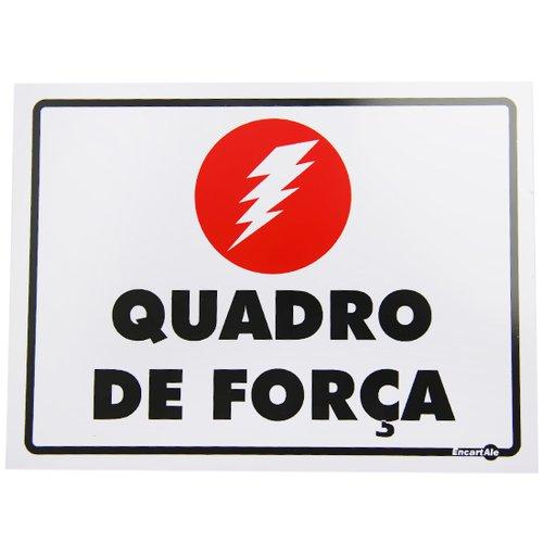placa sinalizadora quadro de força