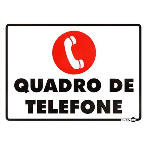 placa sinalizadora para quadro de telefone