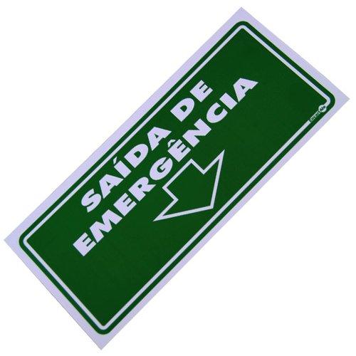 placa sinalizadora de saída de emergência