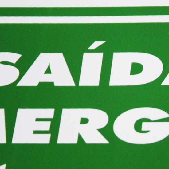 Placa Sinalizadora de Saída de Emergência à Esquerda - Imagem zoom