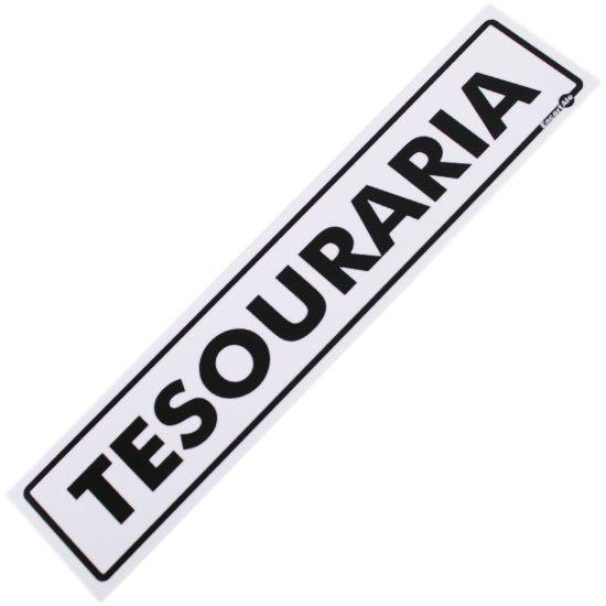 Placa Sinalizadora para Tesouraria - Imagem zoom