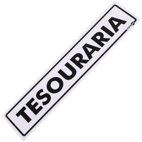 placa sinalizadora para tesouraria