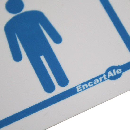 Placa Sinalizadora para Toilette Masculino - Imagem zoom