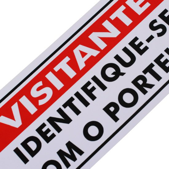 Placa Sinalizadora Visitante Identifique-se com o Porteiro  - Imagem zoom