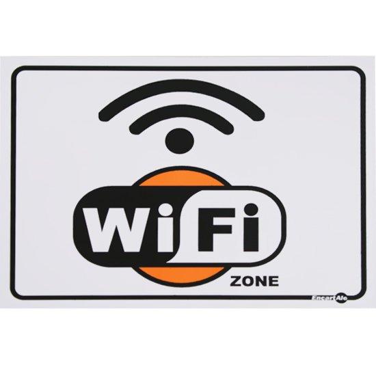 Placa Sinalizadora para Internet Wi-Fi - Imagem zoom