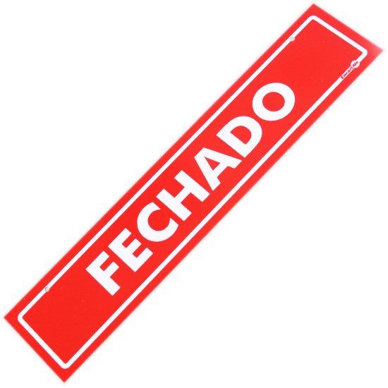 Placa Sinalizadora Aberto / Fechado - Imagem zoom