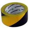 Fita Adesiva de Demarcação Preta / Amarela 50mm x 30m - Imagem 1