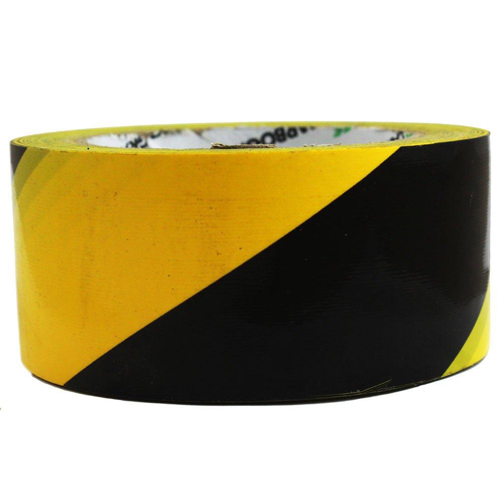 Fita Adesiva de Demarcação Preta / Amarela 50mm x 30m - Imagem zoom