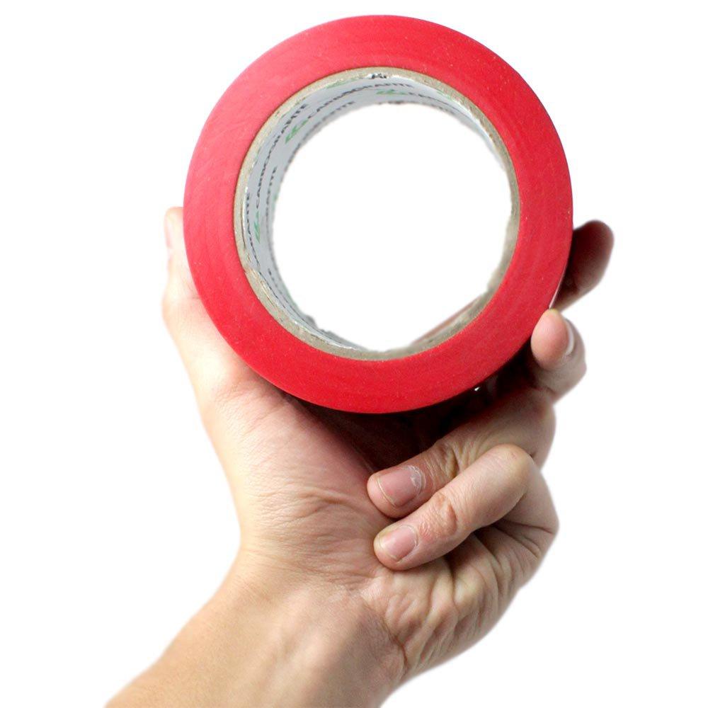 Fita Adesiva de Demarcação Vermelha 50mm x 30m - Imagem zoom