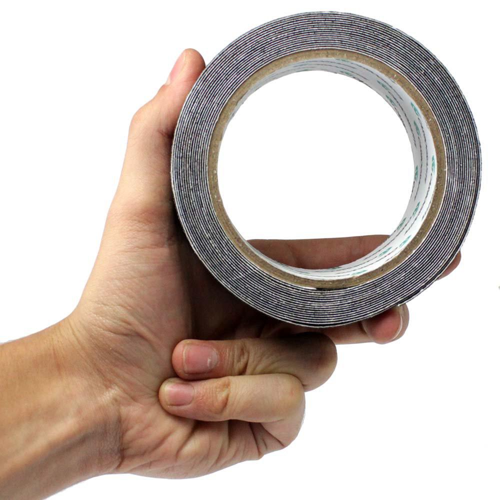 Fita Adesiva Antiderrapante Preta 50mm x 5m  - Imagem zoom