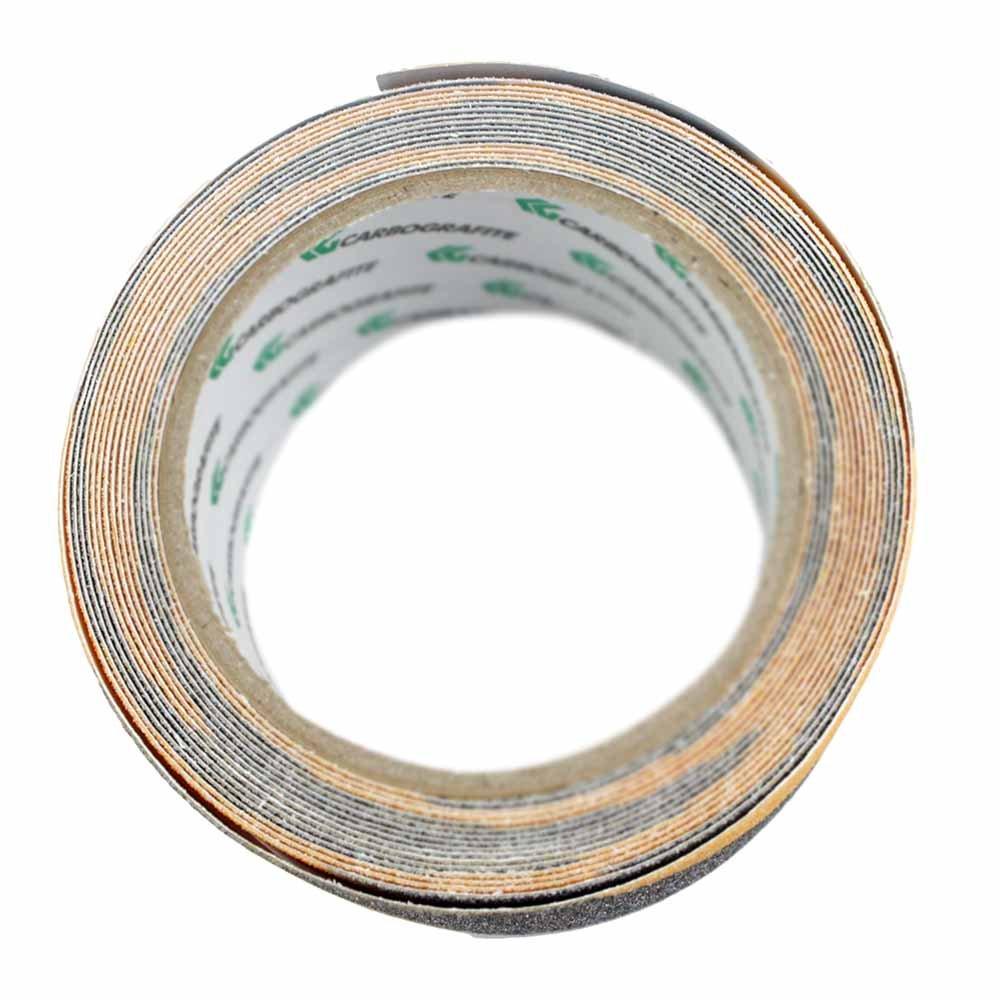 Fita Adesiva Antiderrapante Preta e Amarela 5 Metros - Imagem zoom