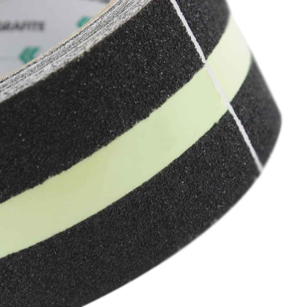 Fita Adesiva Antiderrapante Preto com Refletivo 5 Metros - Imagem zoom