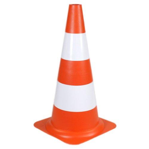 cone sinalizador 50cm laranja e branco