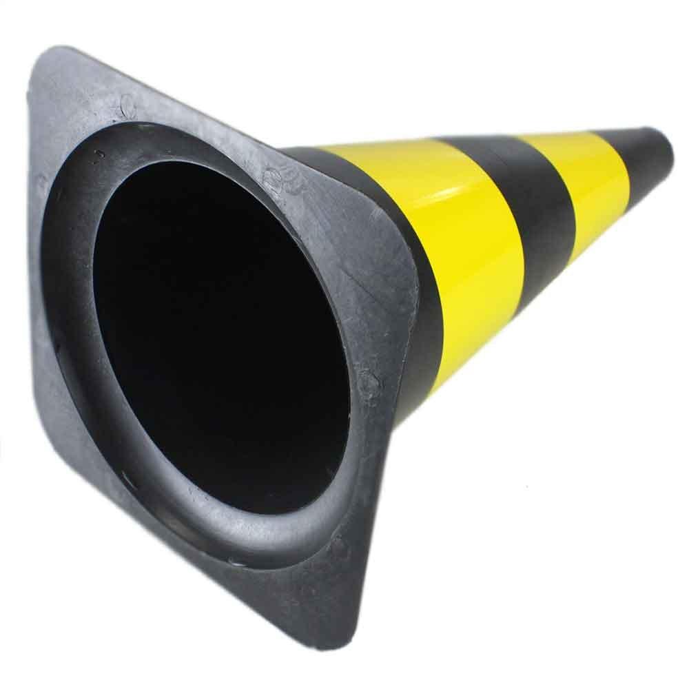 Cone Sinalizador 50cm Preto e Amarelo - Imagem zoom