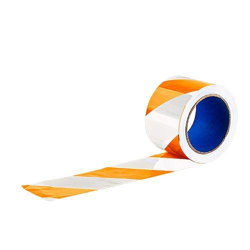 fita zebrada sem adesivo branca/laranja 200 x 65 mm