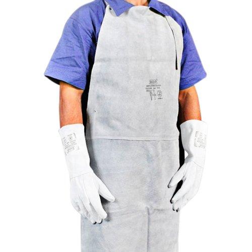 avental de raspa sem manga tipo açougueiro soldador com emenda 100 x 60cm