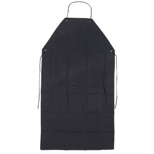 avental preto de pvc forrado 120 x 70cm