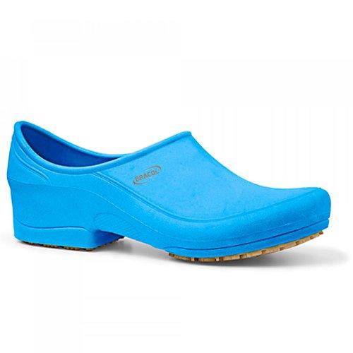 sapato flip impermeável azul com solado de borracha nº 35