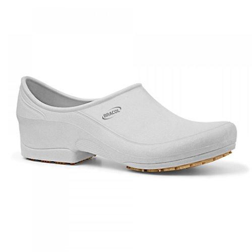 sapato flip impermeável branco com solado de borracha nº 42