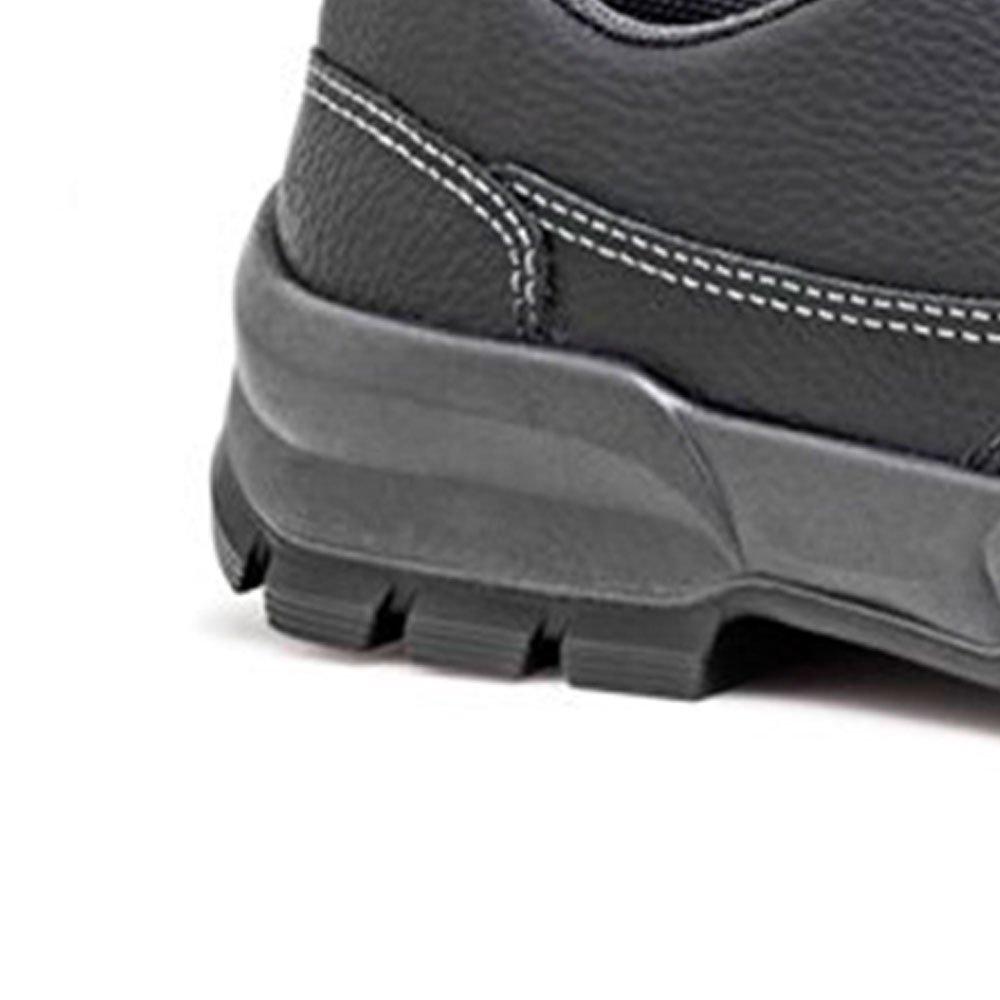 Sapato de Segurança Preto com Cadarço e Bico de Aço Nº 39 - Imagem zoom