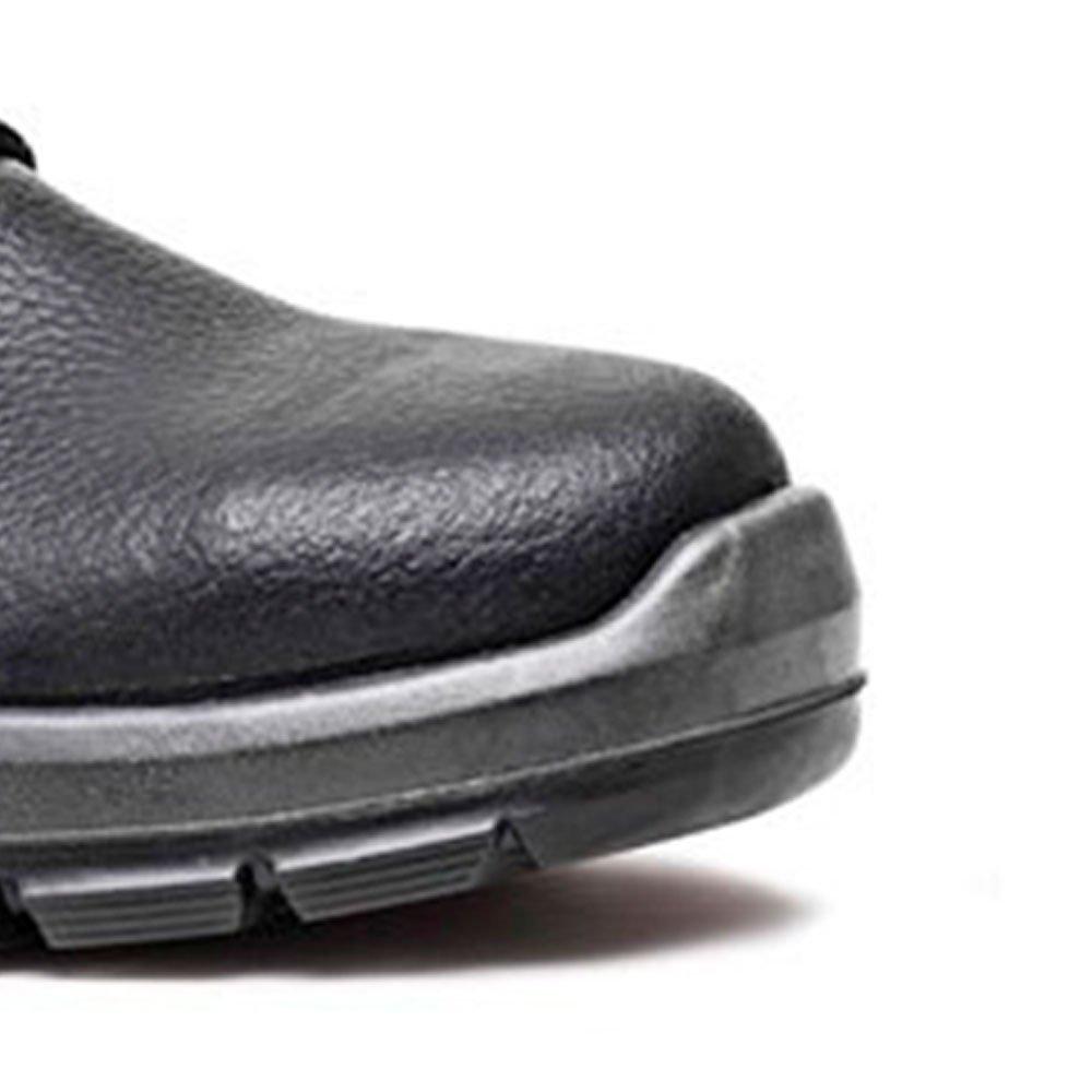 Sapato de Segurança Preto com Cadarço e Bico de Aço Nº 41 - Imagem zoom