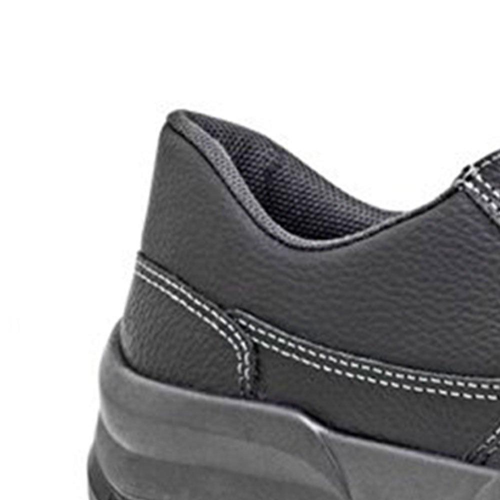 Sapato de Segurança Preto com Cadarço e Bico de Aço Nº 43 - Imagem zoom