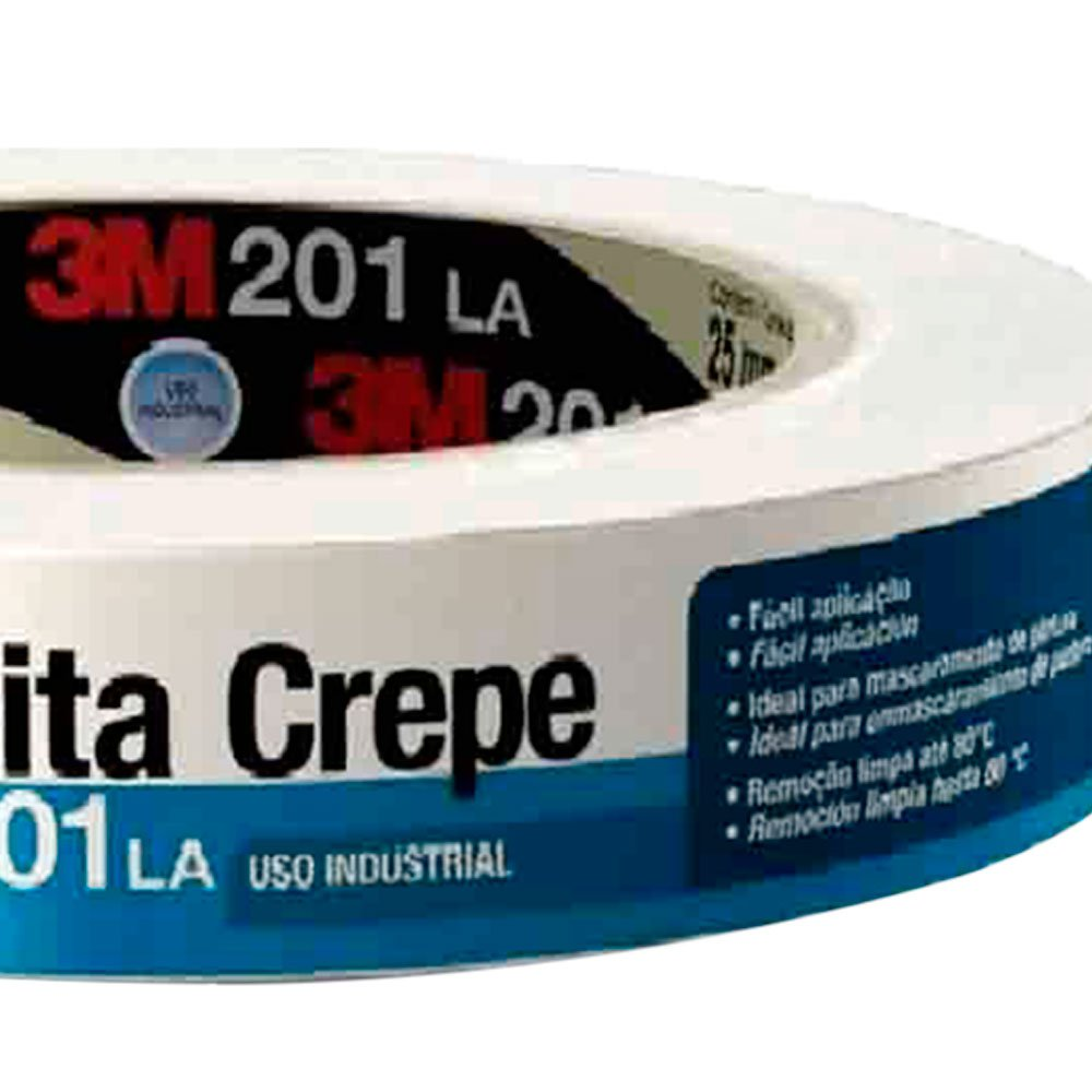 Fita Crepe 201LA Industrial 18 mm x 50 m - Imagem zoom