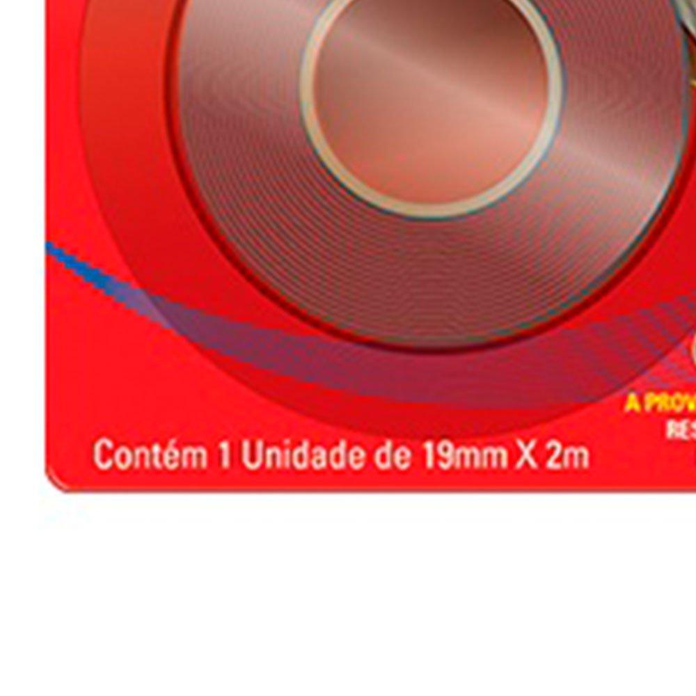 Fita Fixa Tudo Dupla Face para Uso Interno e Externo 19mm x 2m - Imagem zoom