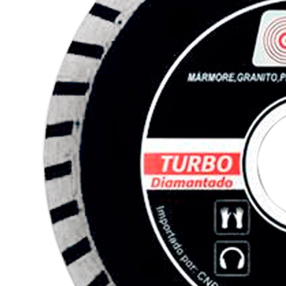 Disco Diamantado Turbo 4.1/2 x 7/8 Pol. com Bucha 20mm - Imagem zoom
