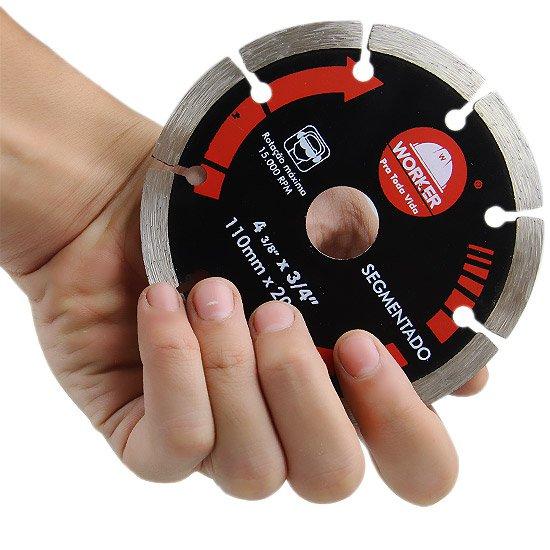Disco Diamantado Segmentado 110 x 20 mm - Imagem zoom