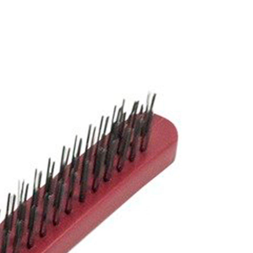 Escova Manual de Aço com Cabo de Plástico - Imagem zoom