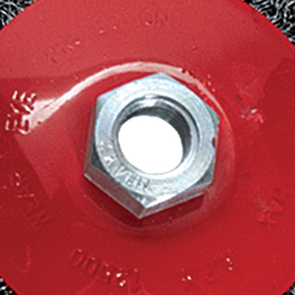 Escova Circular de Aço 5Pol. Haste 6mm Rosca M14 - Imagem zoom