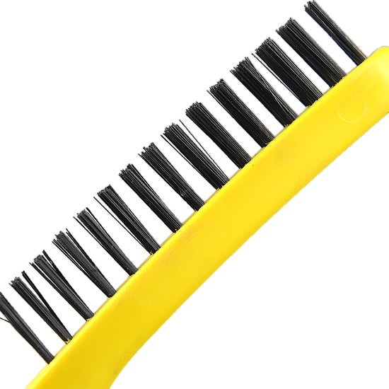 Escova de Aço Carbono Cabo Plástico com 4 Carreiras - Imagem zoom