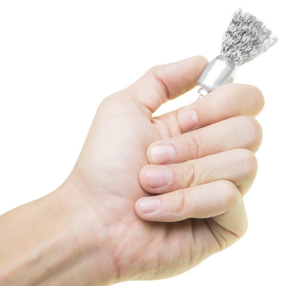 Escova de Aço Tipo Pincel com Haste de 1/4 Pol. - Imagem zoom
