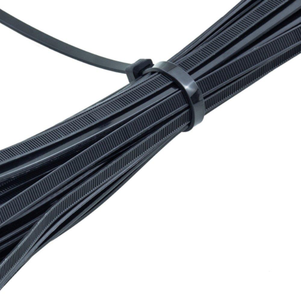 Abraçadeira de Nylon Preta 2,5 x 100 mm com 100 Unidades - Imagem zoom