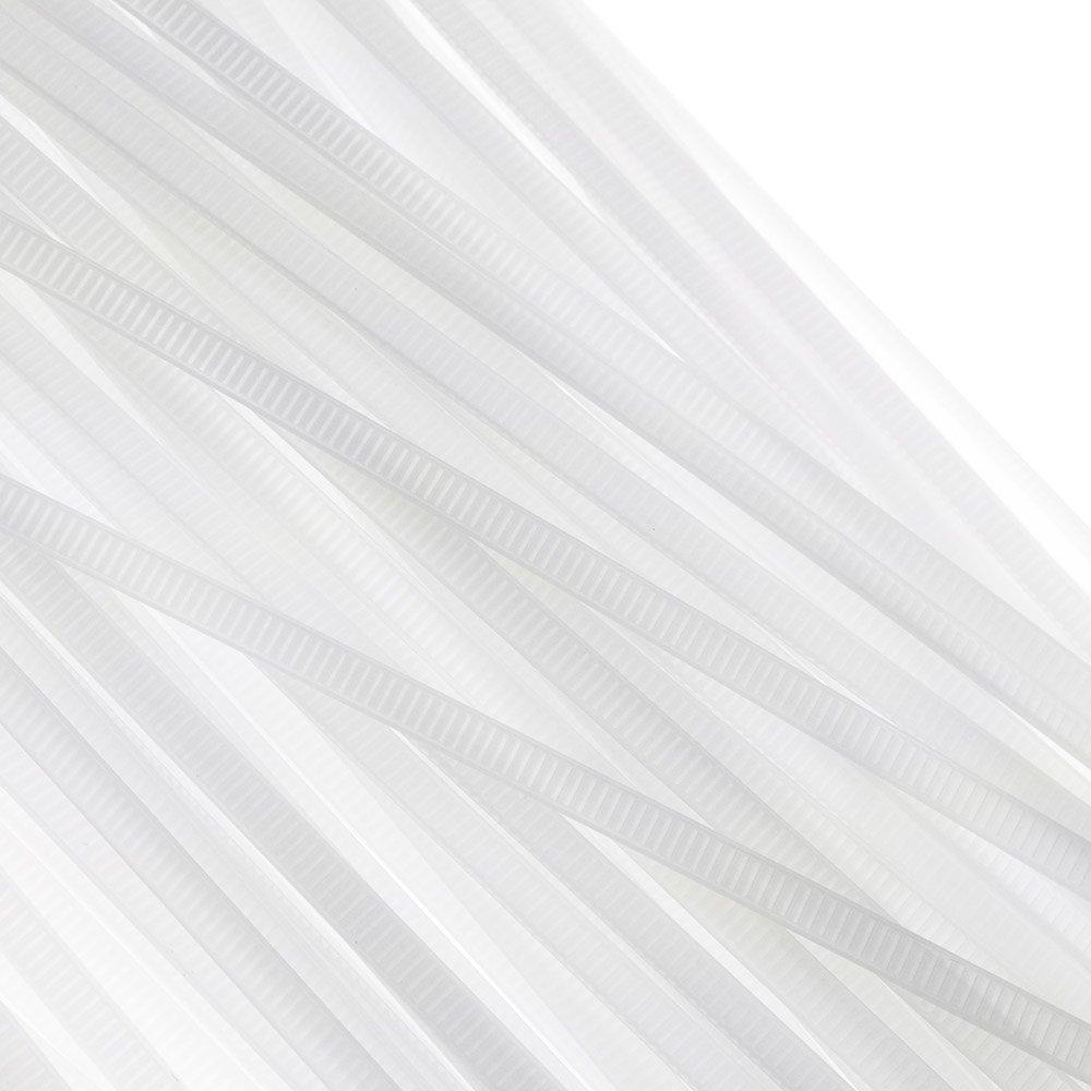 Abraçadeira em Nylon Branca 4,8 x 300 mm com 100 Unidades - Imagem zoom