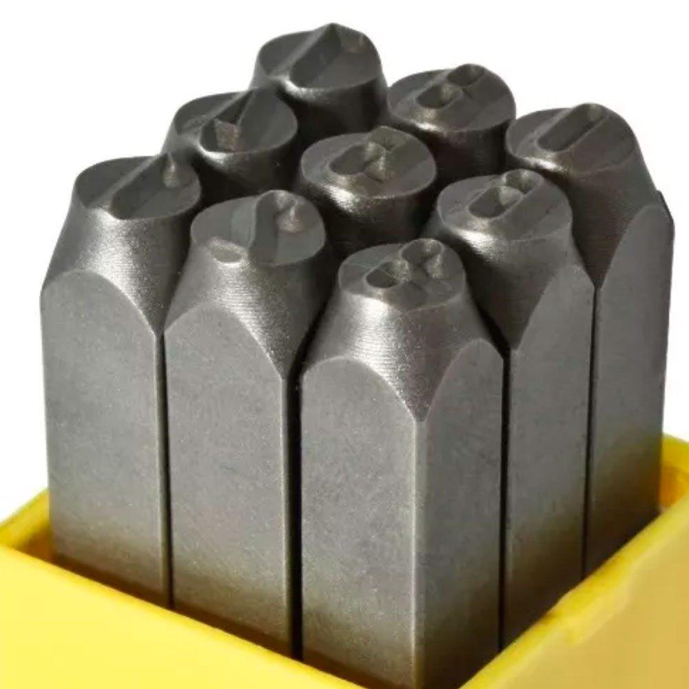 Jogo de Punções Numéricos 6mm com 9 Peças - Imagem zoom