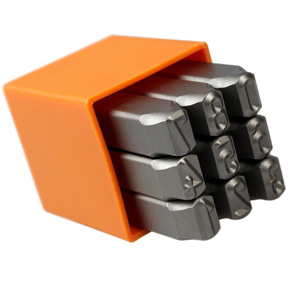 Jogo de Punções Numéricos 10mm - Imagem zoom