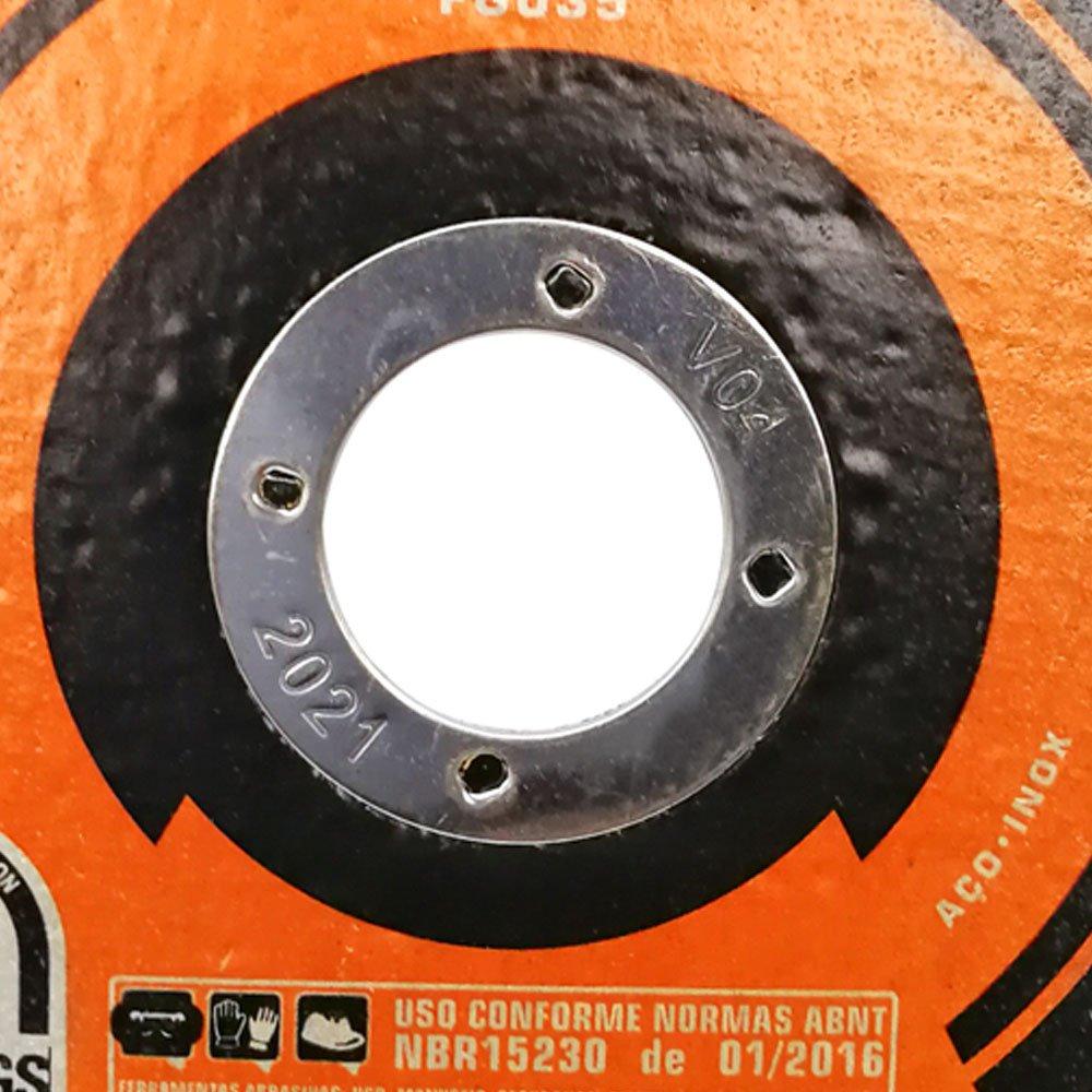 Disco de Corte Fino de Aço Inox 4.1/2 Pol. - 115 x 1.0 x 22mm - Imagem zoom