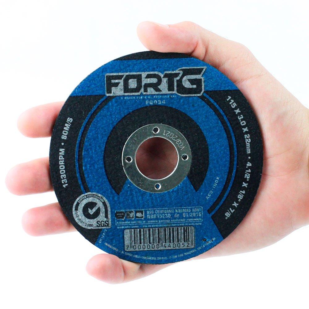 Disco de Corte 115 x 3 x 22,23mm para Aço e Metais Ferrosos - Imagem zoom