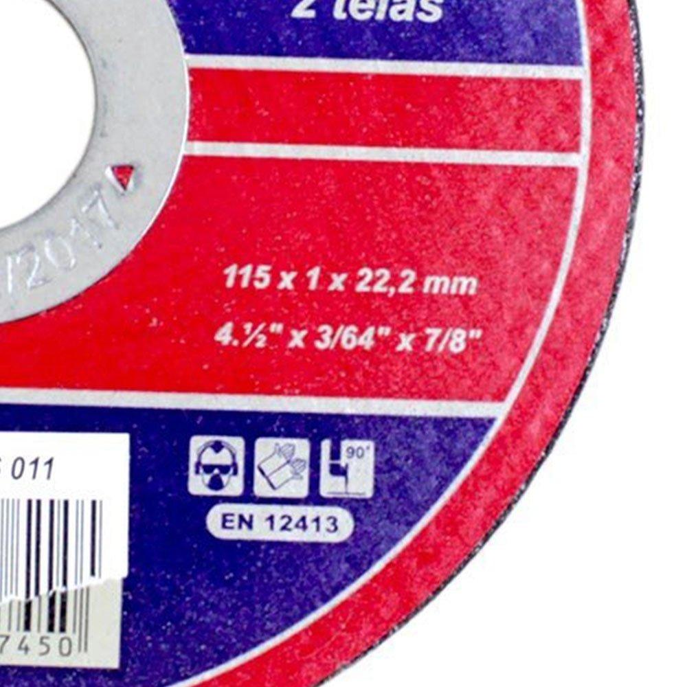 Kit 100 Discos de Corte para Aço Inox 4.1/2 Pol. Loyal 04106011 - Imagem zoom