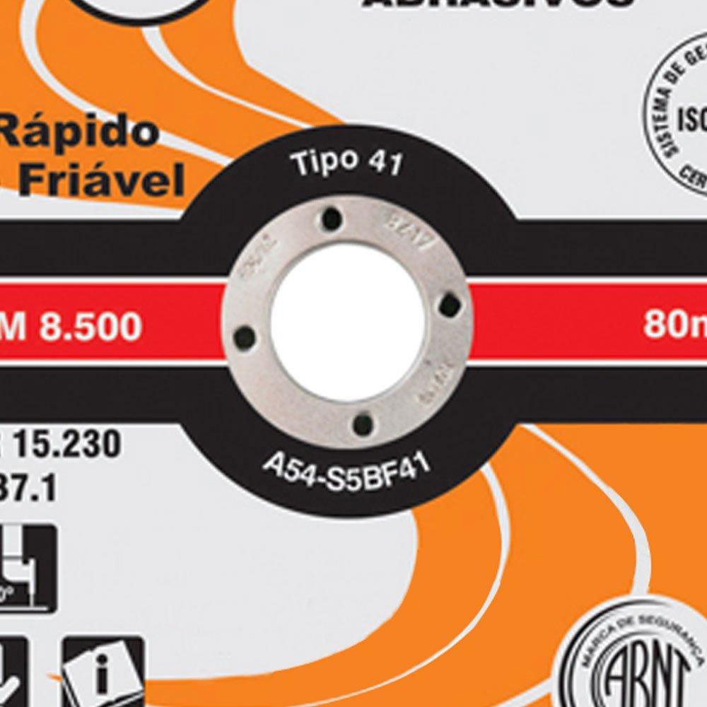 Disco de Corte 115,0 x 1,0 x 22,2 mm para Aço - Imagem zoom