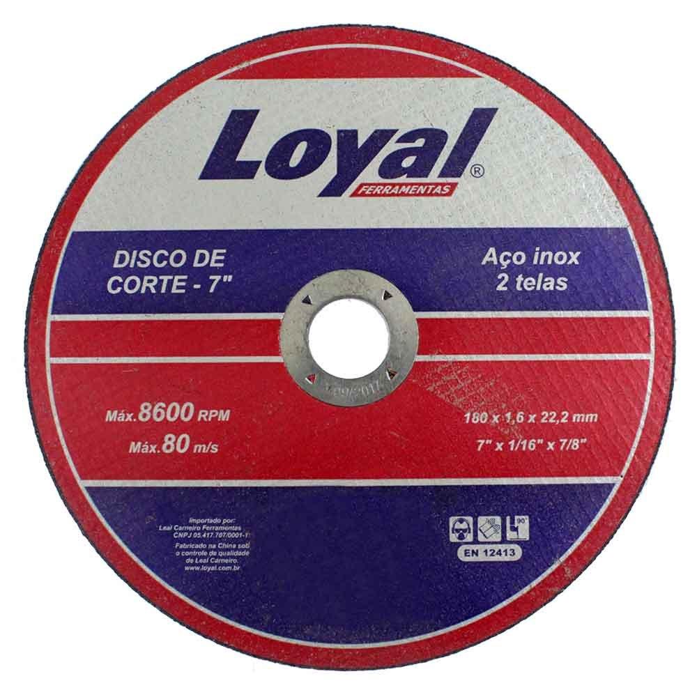 Disco de Corte de 7 Pol. para Aço Inox - LOYAL-04106012 - R 5.99 ... aa43324e6b