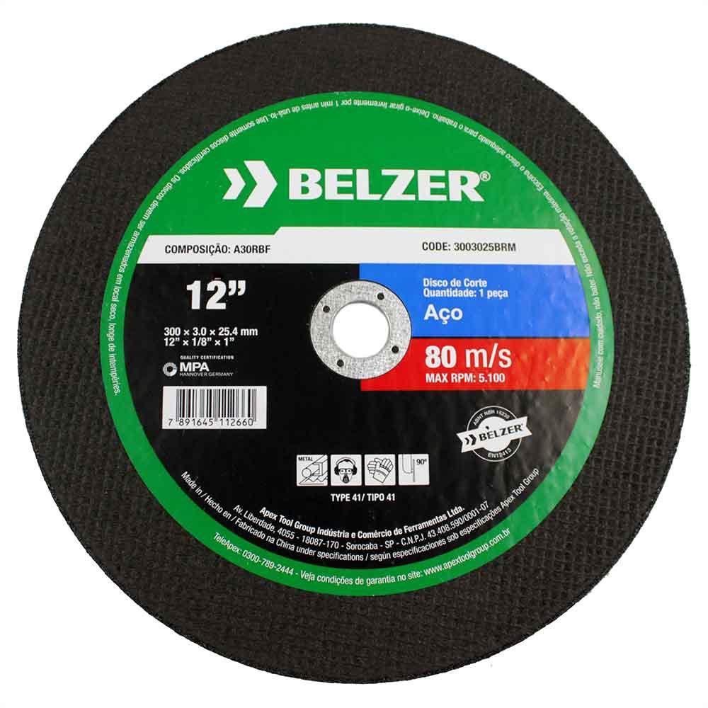Disco de Corte de 12 Pol. para Aço - BELZER-3003025BRM - R 16.99 ... 9562f53203