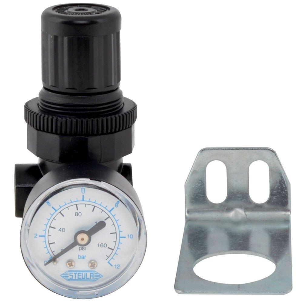 Mini Regulador de Pressão 175PSI 480 l/min com Rosca 1/4 Pol. BSP - Imagem zoom