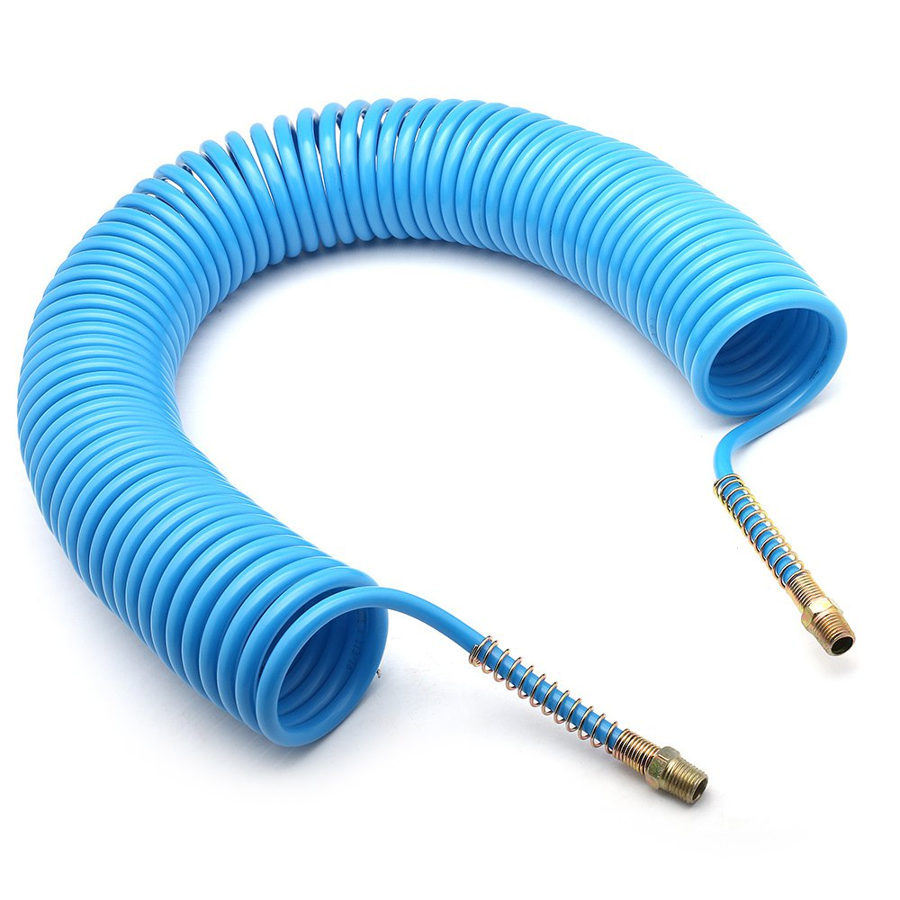 Mangueira Espiral em Poliamida Azul de 15 Metros - 1/4 Pol. NPT - Imagem zoom